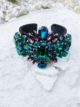 Medina Armspange smaragd – Bild 2