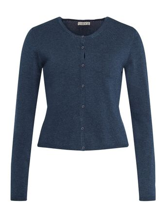 Courlay Knitted Cardigan Medium Blue – Bild 1