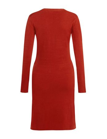 Aclare Knitted Dress Terracotta – Bild 2