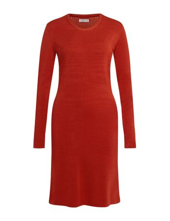 Aclare Knitted Dress Terracotta – Bild 1