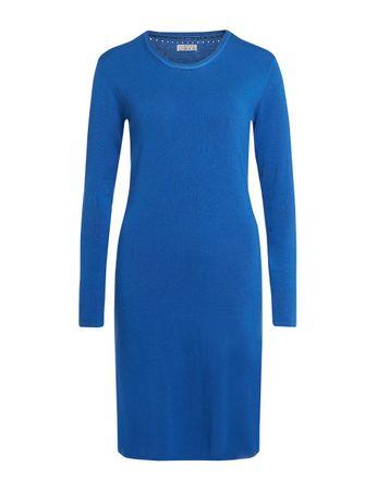Aclare Strick-Kleid azurblau – Bild 1