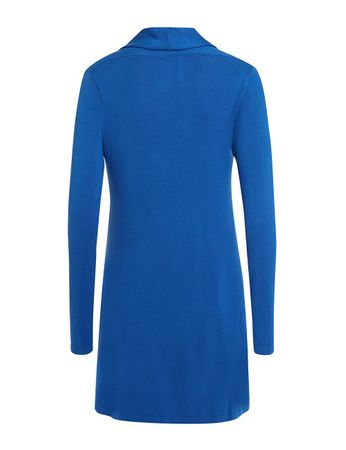 Albyn Knitted Cardigan Coat Azure Blue – Bild 3