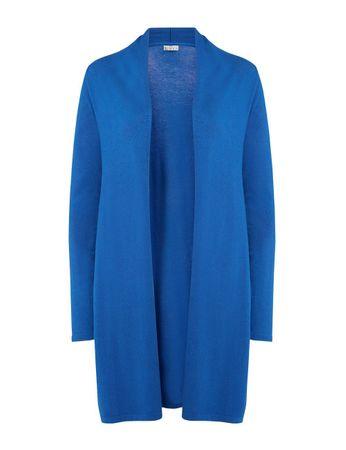 Albyn Knitted Cardigan Coat Azure Blue – Bild 1
