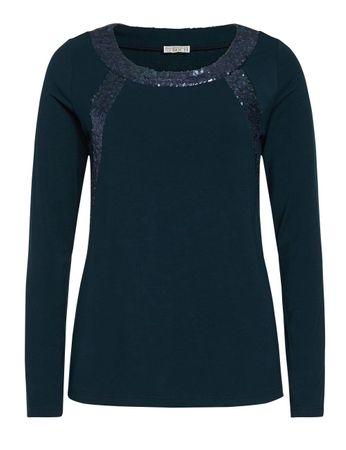 Cammo Jersey-Shirt Pailletten marineblau – Bild 1