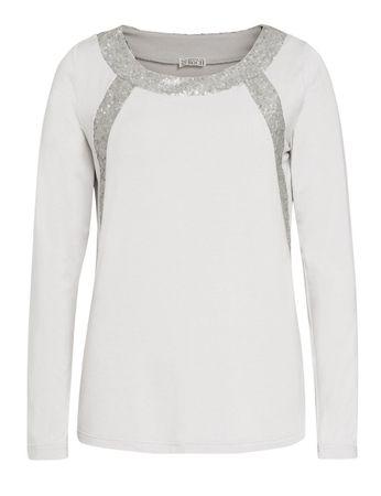 Cammo Jersey-Shirt Sequins Silver Grey – Bild 1