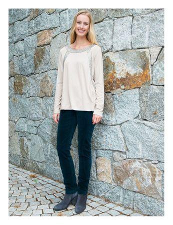 Cammo Jersey-Shirt Sequins Silver Grey – Bild 4