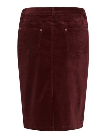 Ornois Velvet Skirt Burgundy – Bild 2