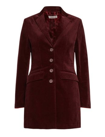 Buckley Velvet Frock Coat Burgundy – Bild 1