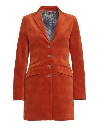 Buckley Velvet Frock Coat Saffron  – Bild 1