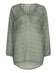Sablon Bluse print oliv 001