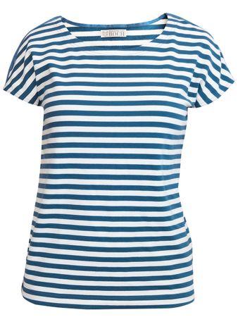 Portola T-Shirt mittelblau-gestreift – Bild 1