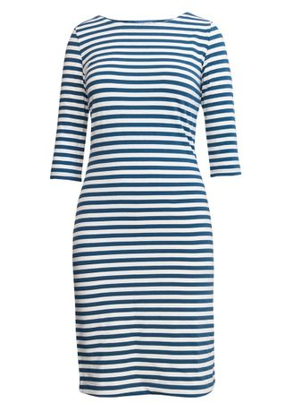 Portola Dress teal-blue/white stripe – Bild 1