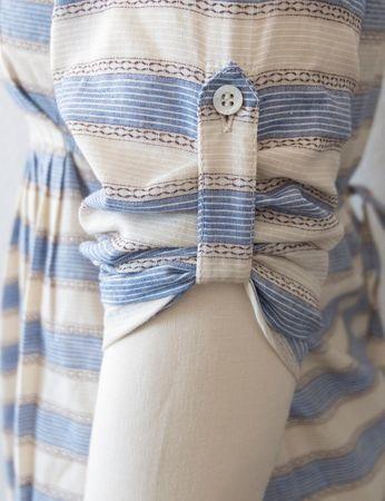 Ios Tunika beige/blau gestreift – Bild 9