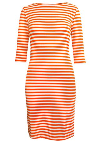 Portola Dress orange/white stripe – Bild 1