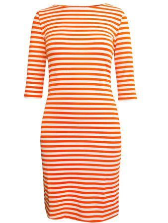 Portola Kleid orange-weiss – Bild 1