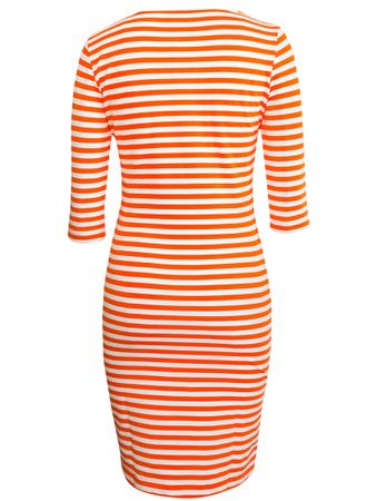 Portola Dress orange/white stripe – Bild 3
