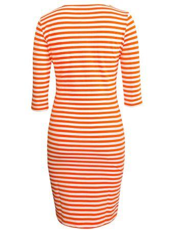 Portola Kleid orange-weiss – Bild 3