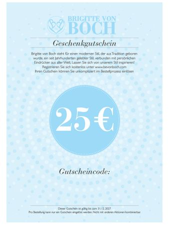 Gift voucher 25 € via email