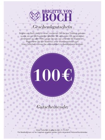 Gift voucher 100 € via email