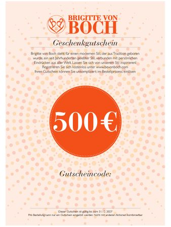Gift voucher 500 € via email