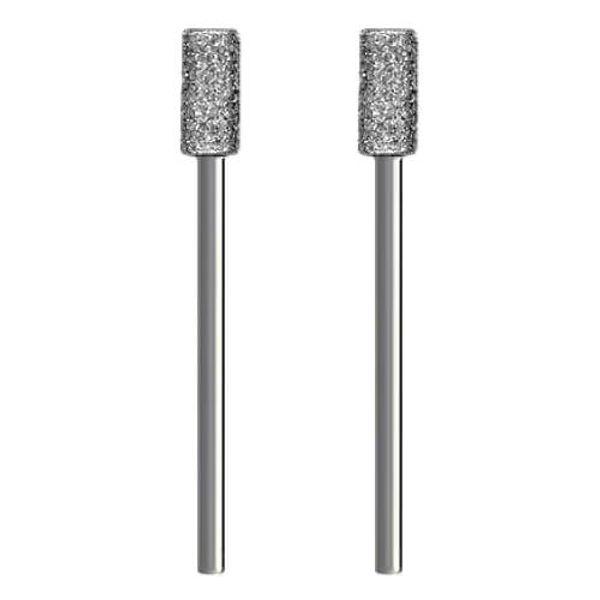 Schleifstein f/ür Dremel Proxxon /Ø 5 x 10 mm | mittel 2x Diamantschleifer