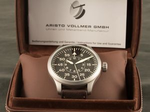 ARISTO 3H142, vintage aviator, hand-wound, sweep second – Bild 6