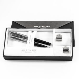 Ball point and Roller ball pen with cufflinks sets in two tone box, Jos Von Arx, EX02 – Bild 1