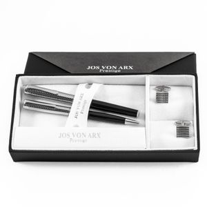 Ball point and Roller ball pen with cufflinks sets in two tone box, Jos Von Arx, EX03 – Bild 1