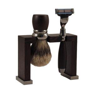 Erbe Solingen Shaving Set 6348, Gilette MACH 3, rhodium, wenge wood – Bild 1