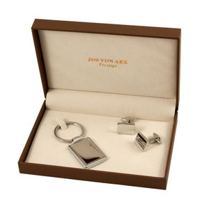 Cufflinks and key chain set in gift box, Jos Von Arx, EX19 – Bild 1