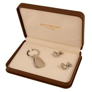 Cufflinks and key chain set in gift box, Jos Von Arx, EX20 – Bild 1