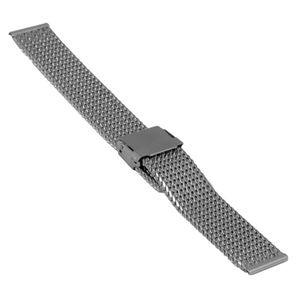 SOC Milanaiseband, H 3,0 mm, B 18 mm, silber, 2908 – Bild 1