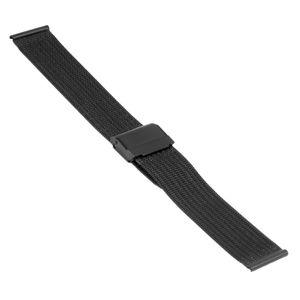 SOC Milanaiseband, H 1,5 mm, B 18 mm, schwarz, 2908  – Bild 1