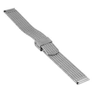 SOC Milanaiseband, H 1,9 mm, B 18 mm, silber, 2910 – Bild 2