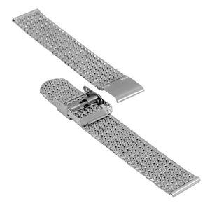SOC Milanaiseband, H 2,5 mm, B 20 mm, silber, 2910 – Bild 3