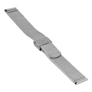 SOC Milanaiseband, H 1,9 mm, B 20 mm, silber, 2905 – Bild 2