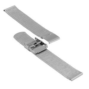 SOC Milanaiseband, H 1,9 mm, B 20 mm, silber, 2905 – Bild 3