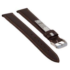 Rios watch strap Toscana, genuine leather, 1020718M, mocha, 18 mm