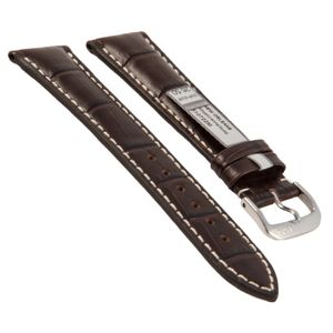 Rios watch strap New Orleans, genuine leather, 510722M, mocha, 22 mm