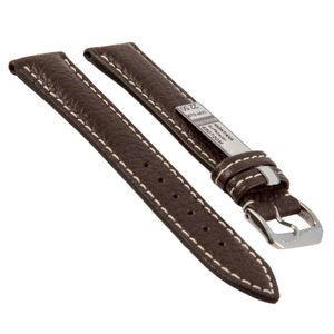 Rios watch strap Montana, genuine leather, mocha, 650722/18M, 22 mm