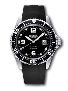 NIVREL Deep Ocean Black, Taucheruhr, Automatik, Ref. N 145.001 – Bild 2