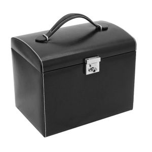 Jewellery Box London, leather, black 26103-2 – Bild 5