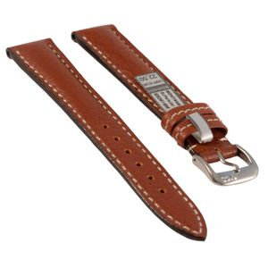 Rios watch strap Montana, genuine leather, black, 22 mm, 650618M
