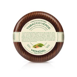 Mondial Shaving Cream, Tabacco Verde, Wooden Bowl
