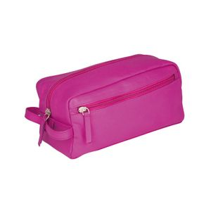 Erbe sponge bag, small, leather, pink, 9899