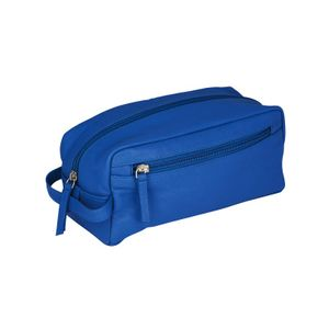 Erbe sponge bag, small, leather, blue, 9901