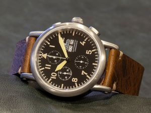 ARISTO 7H186, vintage aviator-chrono watch, 7H186, ETA Valjoux 7750 – Bild 2