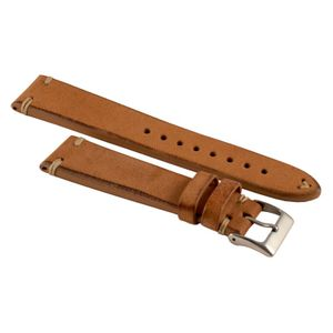 Rios watch strap Montana, genuine leather, black, 651320M, 20 mm – Bild 3