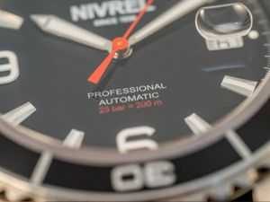NIVREL Red Voyager, Dive watch, Automatic, Ref. N 148.001 – Bild 7