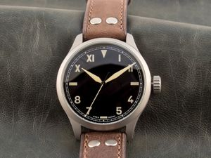ARISTO 3H192A, Aviator watch Vintage Calif. Dial, Automatic, 47 mm – Bild 3